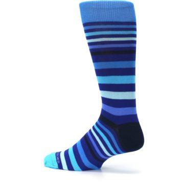 Image of Blues Stripe Men's Dress Socks (side-2-13)