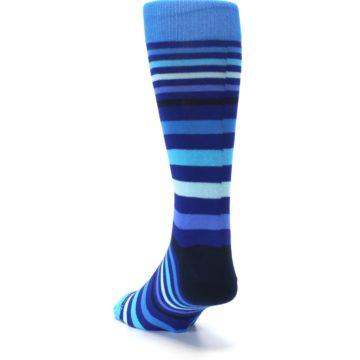 Image of Blues Stripe Men's Dress Socks (side-2-back-16)