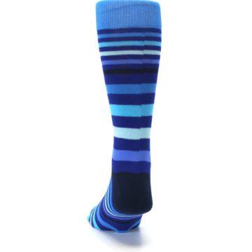 Image of Blues Stripe Men's Dress Socks (back-17)