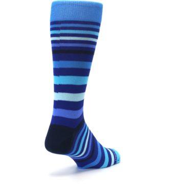 Image of Blues Stripe Men's Dress Socks (side-1-back-21)