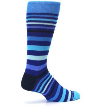 Image of Blues Stripe Men's Dress Socks (side-1-23)
