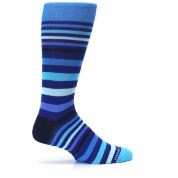 Image of Blues Stripe Men's Dress Socks (side-1-24)