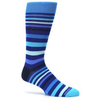 Image of Blues Stripe Men's Dress Socks (side-1-25)
