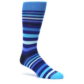 Image of Blues Stripe Men's Dress Socks (side-1-26)