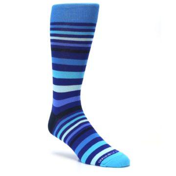Image of Blues Stripe Men's Dress Socks (side-1-27)