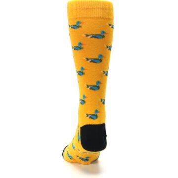 Image of Yellow Mallard Ducks Men's Dress Socks (back-17)