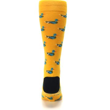 Image of Yellow Mallard Ducks Men's Dress Socks (back-18)