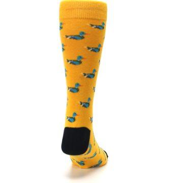 Image of Yellow Mallard Ducks Men's Dress Socks (back-19)