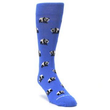 Image of Blue Panda Bear Men's Dress Socks (side-1-front-02)