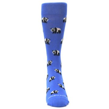 Image of Blue Panda Bear Men's Dress Socks (front-04)