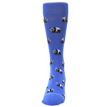 Image of Blue Panda Bear Men's Dress Socks (front-05)