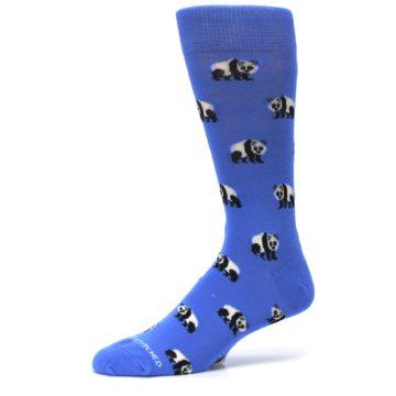 Image of Blue Panda Bear Men's Dress Socks (side-2-10)