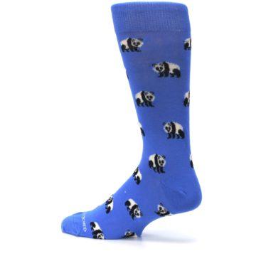 Image of Blue Panda Bear Men's Dress Socks (side-2-13)