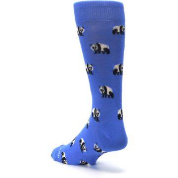 Image of Blue Panda Bear Men's Dress Socks (side-2-back-15)