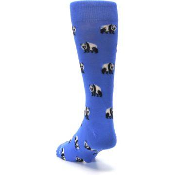 Image of Blue Panda Bear Men's Dress Socks (side-2-back-16)