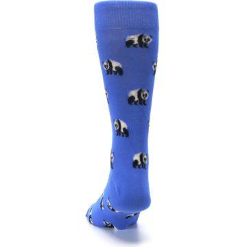 Image of Blue Panda Bear Men's Dress Socks (back-17)