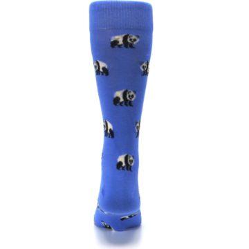 Image of Blue Panda Bear Men's Dress Socks (back-18)