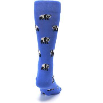 Image of Blue Panda Bear Men's Dress Socks (back-19)