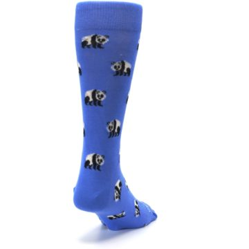Image of Blue Panda Bear Men's Dress Socks (side-1-back-20)