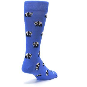 Image of Blue Panda Bear Men's Dress Socks (side-1-back-21)