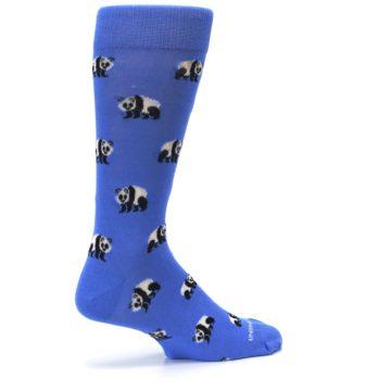 Image of Blue Panda Bear Men's Dress Socks (side-1-23)