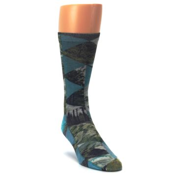 Image of Forest of Triangles Men's Casual Socks (side-1-front-02)