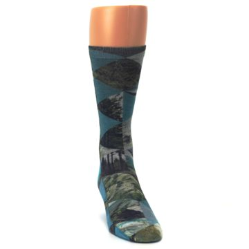 Image of Forest of Triangles Men's Casual Socks (side-1-front-03)