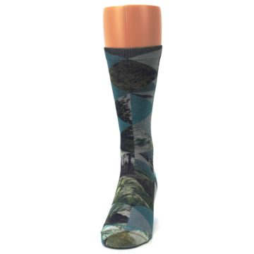 Image of Forest of Triangles Men's Casual Socks (front-05)