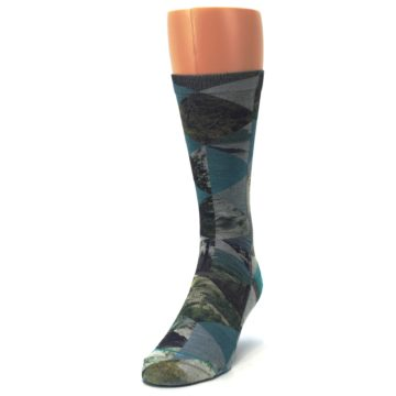 Image of Forest of Triangles Men's Casual Socks (side-2-front-06)