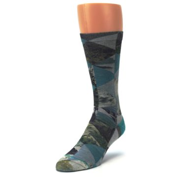 Image of Forest of Triangles Men's Casual Socks (side-2-front-07)
