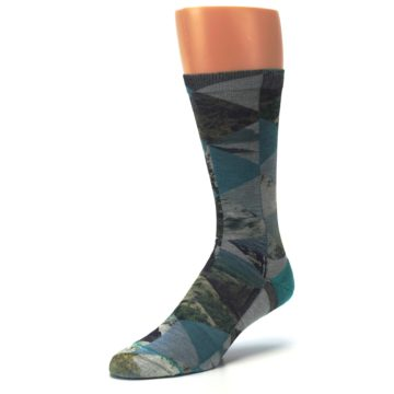 Image of Forest of Triangles Men's Casual Socks (side-2-front-08)