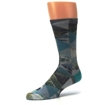 Image of Forest of Triangles Men's Casual Socks (side-2-09)