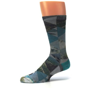 Image of Forest of Triangles Men's Casual Socks (side-2-10)