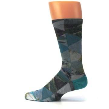 Image of Forest of Triangles Men's Casual Socks (side-2-12)