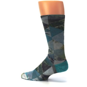 Image of Forest of Triangles Men's Casual Socks (side-2-13)