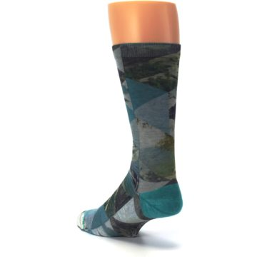 Image of Forest of Triangles Men's Casual Socks (side-2-back-15)