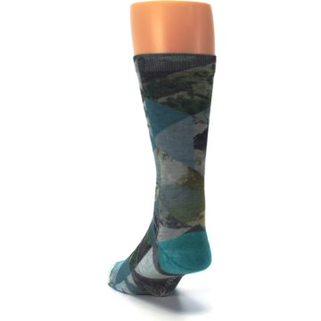 Image of Forest of Triangles Men's Casual Socks (side-2-back-16)