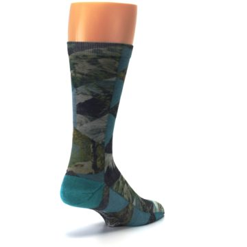 Image of Forest of Triangles Men's Casual Socks (side-1-back-21)