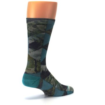 Image of Forest of Triangles Men's Casual Socks (side-1-back-22)