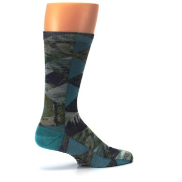 Image of Forest of Triangles Men's Casual Socks (side-1-23)