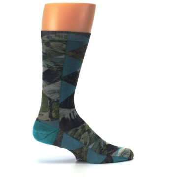 Image of Forest of Triangles Men's Casual Socks (side-1-24)