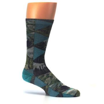 Image of Forest of Triangles Men's Casual Socks (side-1-25)