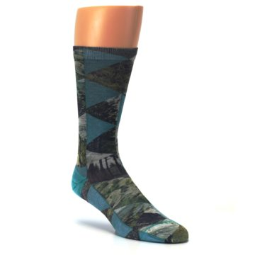Image of Forest of Triangles Men's Casual Socks (side-1-27)