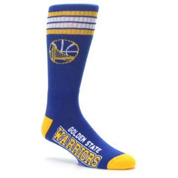 Image of Golden State Warriors Men's Athletic Crew Socks (side-1-26)