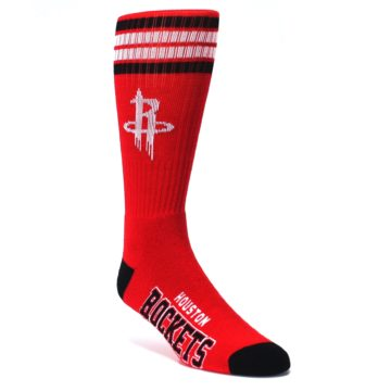 Image of Houston Rockets Men's Athletic Crew Socks (side-1-front-01)