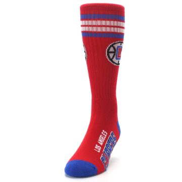 Image of Los Angeles Clippers Men's Athletic Crew Socks (side-2-front-06)