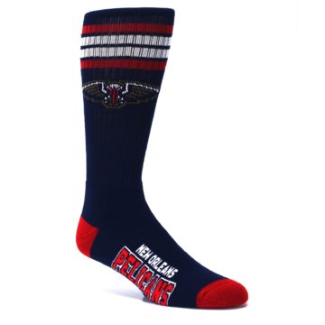 Image of New Orleans Pelicans Men's Athletic Crew Socks (side-1-26)