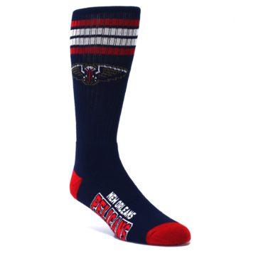 Image of New Orleans Pelicans Men's Athletic Crew Socks (side-1-27)