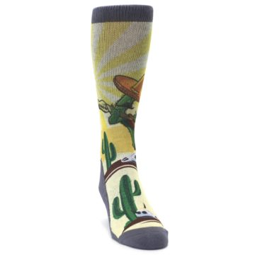 Image of Guitar Playing Cactus Men's Casual Socks (side-1-front-03)