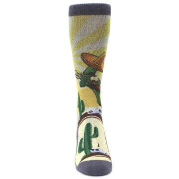 Image of Guitar Playing Cactus Men's Casual Socks (front-04)